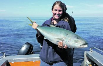Kingfish have been harder to come by, but Jess is still pulling them in.