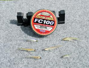 Flies suited to tuna are usually small to represent small baitfish, and can vary from size 1/0 or 2/0 down to size 1.