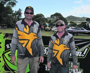 Shaun Clancy and Jarrod Healy from Team Humminbird took out the Hurricane Monster Movers Prize.