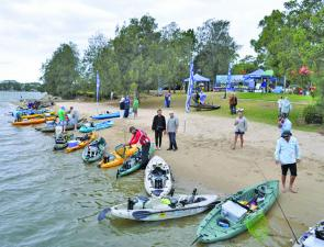 The start of a Hobie ABT kayak event – everyone is keen to go.
