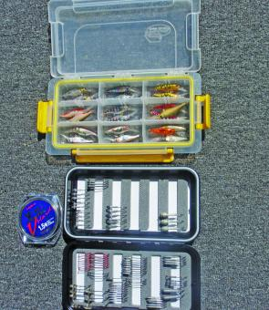 Organising tackle into smaller fly boxes makes life easier for kayak based tournament anglers.