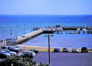 Give Portarlington Pier a go after a strong northerly when the sun goes down.