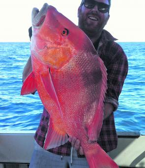 Brian Wells took this ripper of a red emperor offshore.