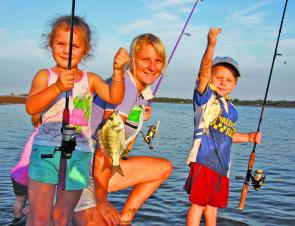 Fishing can be fun for the whole family. Get Mum involved, too.