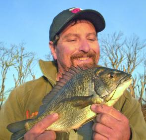 Another bream caught on a 4cm Micromax lure.