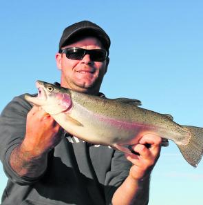 This 45cm rainbow was caught on a Rapala at Wurdi Buloc.