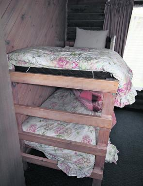 Many of the rooms offer bunks or single beds in the second room.