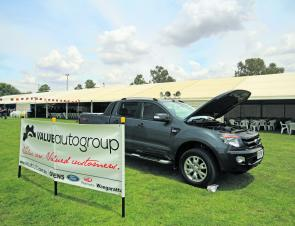 The magnificent Ford Ranger Ute on display for the lucky angler who can catch 'Henry'. Photo courtesy of Jarrod Day.