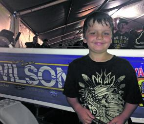 Reece Jones was stoked to take away the Wilson Junior Random Draw Boat package.