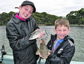 It doesn't take much to put a smile on young anglers' faces.