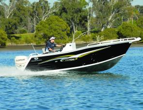 The Trailcraft 510 Pro Fish has a well raked bow which provides a quality ride.