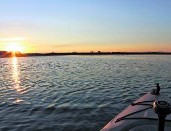 Sunrise and sunset are peak bite times and magic times to be on the water.