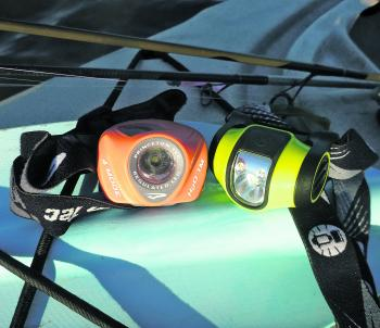 Quality, waterproof headlamps with multiple light levels are ideal.