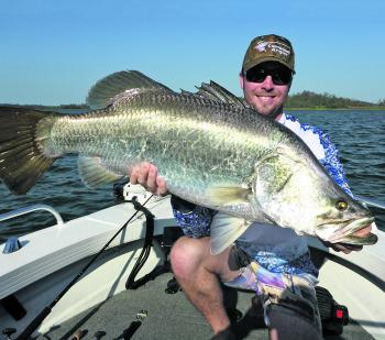 Team Triton Boats/Edge Rods broke the metre mark (122cm) to claim the Austackle Big Barra Prize at Teemburra.