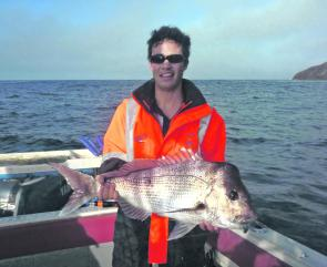 "Local Steve Dial caught this 5kg snapper on a 5"" soft plastic and there'll be plenty more available over coming months."