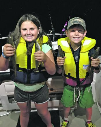 Get the kids out fishing! Violet and Dallas Greene enjoyed a great trip on the Werribee whiting.