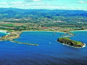 Aerial view of Coffs Marina.