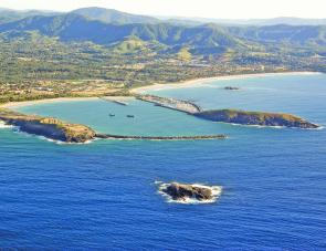 Coffs Coast aerial view.
