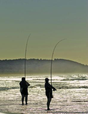 Boambee Beach fishers.