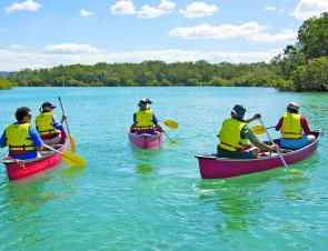 Coffs attractions: canoeing