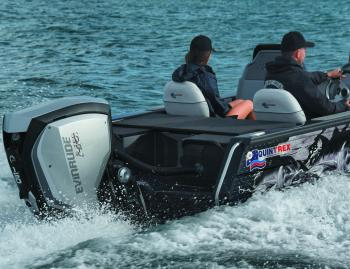 It doesn't hurt that Quintrex's parent company, Telwater, is the Australian distributor of Evinrude outboards. The 150hp HO model was a great match for this hull, which has a horsepower range from 75 to 150hp.