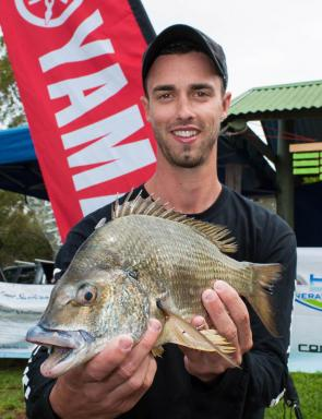 It was a near perfect start to Michael Colotourous' boater career in the 13 Fishing BREAM with a great second place badge. Image courtesy of lureandfly.com