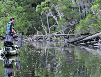 The Outback is exceptionally stable for a smaller kayak, allowing anglers to stand in their kayaks – an important feature for anglers wanting to cast and retrieve lures.