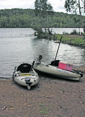 The western boat ramp at Brushy Lagoon is the perfect place to launch kayaks and small dinghies.