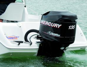 The Mercury 135 Optimax was ample power for the Lewis 590.