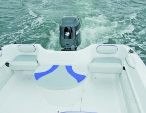 Transom quarter seats, as well as the padded central unit, can be removed from the cockpit to provide more fishing room.