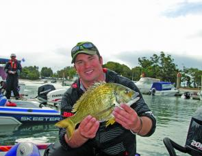 Shane Wolhuter took out the non-boater section and the event's big bream prize with this 1.25kg stonker.