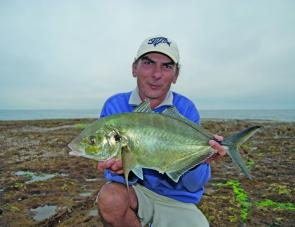 This nice trevally was caught at Norah Head while fishing for drummer.