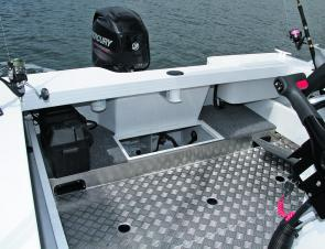 There's a self-draining treadplate cockpit, full-height transom and live-bait tank to warm any fisho's heart.