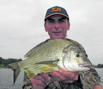 March is a fantastic month for chasing bream with lures and natural baits. The author continues to enjoy success by working sinking vibes through water around a metre deep.