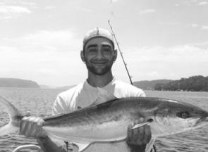Sal Kemal is a happy man with his 89cm kingfish.