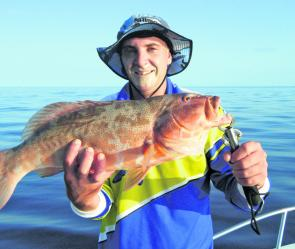 The warm water means you will have to fish deeper to catch solid coral trout.