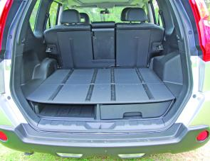Innovative rear cargo space is a big feature of the X-Trail wagon.