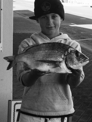 The Harrington breakwall has been producing quality bream to a kilo, as Scott Hogan can attest.