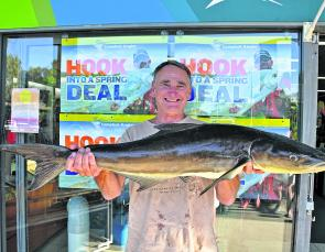 Peter Brien from Cronulla in Sydney caught this quality 8.5kg cobia while fishing from the beach just north of Teewah.