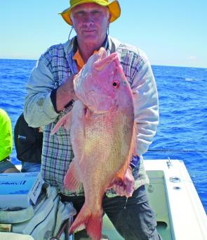 Tony O'Connor with his big red taken wide off Hinchinbrook.