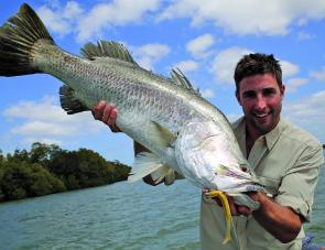 Barramundi are on every visiting anglers' mind, and the creeks up here are full of them!
