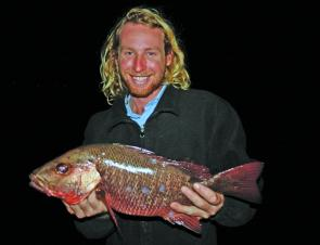 Dean Kerswell with a 50cm+ mangrove jack that he reckoned nearly pulled his arms off!