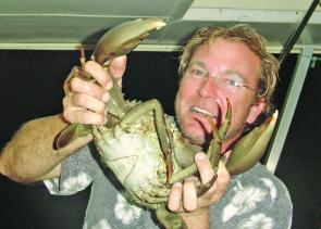 Fishtalk's Jason Hagen up close with a muddie.