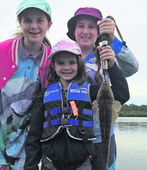 Good times with the girls catching winter flathead.