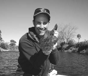 Michael Fennessy about to release a nice size dusky in the Tambo River.