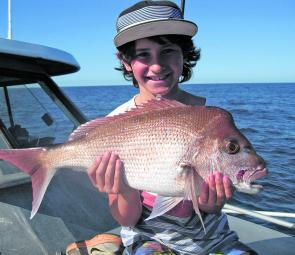 A perfect meal-sized snapper, there will be plenty this size captures throughout September.
