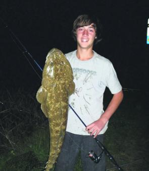 This cracking Clarence River flathead fell to a soft plastic.