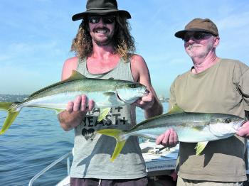 Kingfish will still be on offer in Pittwater this month with multiple fish an option once an active school has been located.