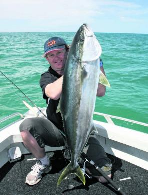 One of the many fantastic kingfish that have been taken off Port Fairy this summer.