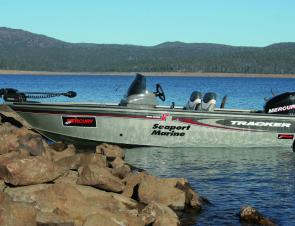 The Tracker, with its higher sides is a comfortable lake boat. Perfect for wintery or blustery conditions.